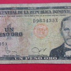 Billetes extranjeros: REPÚBLICA DOMINICANA. BILLETE DE 1 PESO. 1982. VER FOTOS.. Lote 183993952