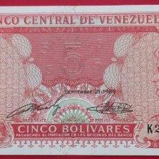 Billetes extranjeros: VENEZUELA. BILLETE DE 5 BOLÍVARES. 1989. SIN CIRCULAR.. Lote 183996170