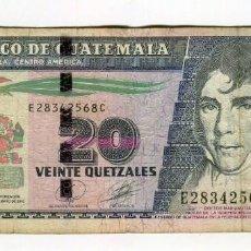 Billetes extranjeros: 20 QUETZALES BANCO DE GUATEMALA AÑO 2010. Lote 184062838