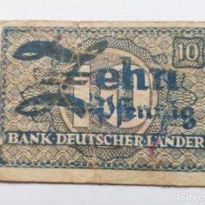 Billetes extranjeros: ALEMANIA FEDERAL 10 PFENNIG 1948 CIRCULADO - BANK DEUTSCHER LANDER - PICK 12. Lote 184380581