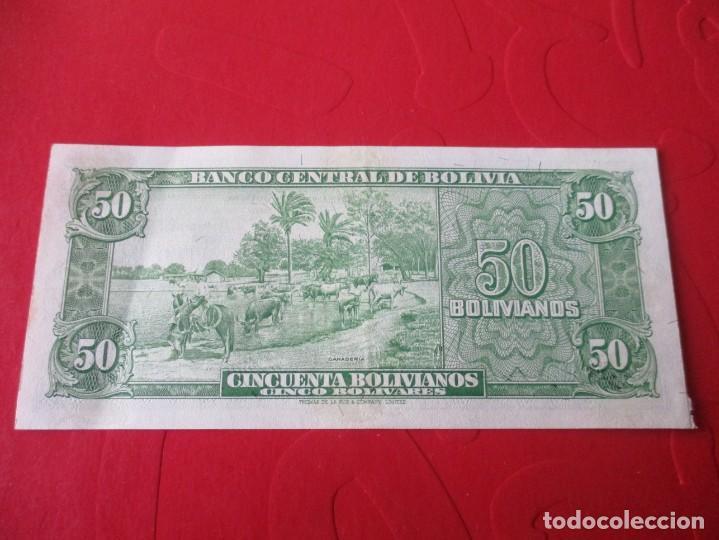 Billetes extranjeros: Bolivia. billete de 50 bolivianos. 1945 - Foto 2 - 184383300