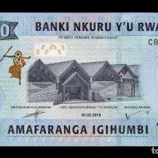 Billetes extranjeros: RUANDA RWANDA 1000 FRANCS 2019 PICK 39B NUEVA FECHA SC UNC. Lote 195540652