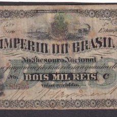Billetes extranjeros: BRAZIL 2 MILREIS. Lote 139751490