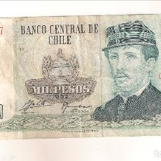 Billetes extranjeros: BILLETE DE CHILE DE 1000 PESOS DE 1992. MBC. (BE108). Lote 185011037