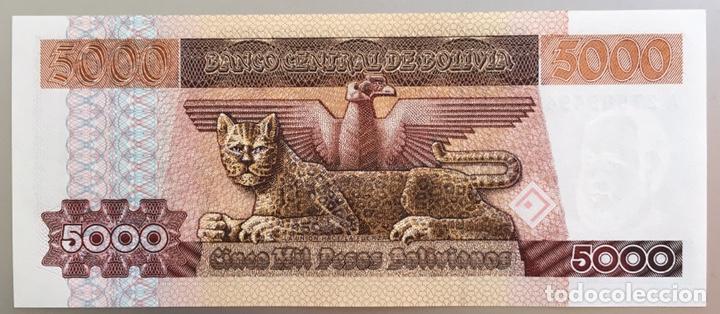 BOLIVIA. 5000 PESOS BOLIVIANOS (Numismática - Notafilia - Billetes Extranjeros)