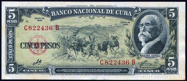cuba - 5 pesos 1960 - firma del che s/c - Comprar Billetes ...