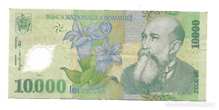 RUMANIA 10000 LEI 2001 POLIMERO PICK 108A (Numismática - Notafilia - Billetes Extranjeros)