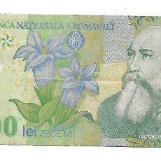 Billetes extranjeros: RUMANIA 10000 LEI 2001 POLIMERO PICK 108A. Lote 185954910