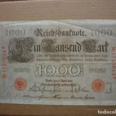 Billetes extranjeros: ALEMANIA - 1000 MARCOS 1910 (SELLO ROJO) Nº 1723012F. Lote 186094882
