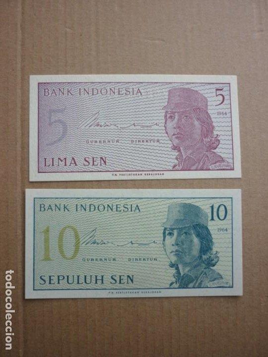 INDONESIA - 5 Y 10 SEN 1964 (Numismática - Notafilia - Billetes Internacionales)