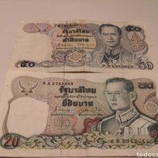 Billetes extranjeros: 2 BILLETES TAILANDIA. 20 Y 50 BATS. MBC. Lote 186189543