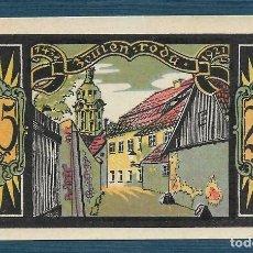 Billetes extranjeros: BILLETE ALEMANIA ZEULENRODA NOTGELD 1921 25 PFENNIG S.N. UNC/AU. Lote 186392746