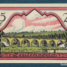 Billetes extranjeros: BILLETE ALEMANIA ZEULENRODA NOTGELD 1921 25 PFENNIG S.N. UNC/AU. Lote 186392860