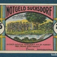 Billetes extranjeros: BILLETE ALEMANIA SUCHSDORF NOTGELD 1921 25 PFENNIG Nº 20218 UNC/AU. Lote 186393343