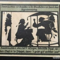 Billetes extranjeros: BILLETE ALEMANIA NOTGELD SOMBRAS 1921 50 PFENNIG IMÁGEN Nº5 UNC/AU. Lote 186393701
