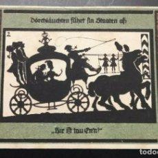 Billetes extranjeros: BILLETE ALEMANIA NOTGELD SOMBRAS 1921 50 PFENNIG IMÁGEN Nº2 UNC/AU. Lote 186393887