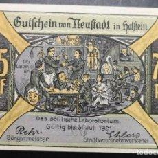 Billetes extranjeros: BILLETE ALEMANIA NEUSTADT IN HOLSTEIN NOTGELD 1921 75 PFENNIG Nº09988 UNC/AU. Lote 186394091