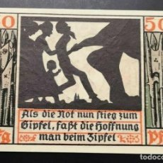 Billetes extranjeros: BILLETE ALEMANIA NAUMBURGO NOTGELD SOMBRAS 1920 50 PFENNIGNº 17777 UNC/AU. Lote 186394213