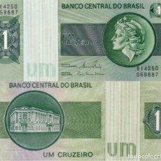 Billetes extranjeros: BRAZIL, 1 CRUZEIRO, 1980, P191C, UNC. Lote 187469100