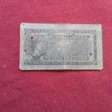 Billetes extranjeros: MEXICO (REVOLUCIÓN). GOBIERNO PROVISIONAL. 20 CENTAVOS 22.7.1914. Lote 187501965