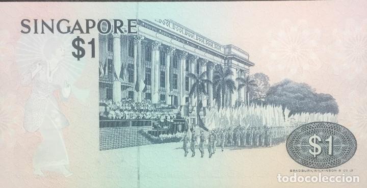 Billetes extranjeros: SINGAPUR 1 DOLLAR 1976 Pick 9 - Foto 2 - 187519333