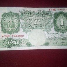 Billetes extranjeros: REINO UNIDO. LIBRA. Lote 187540133