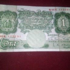 Billetes extranjeros: REINO UNIDO. LIBRA. Lote 187540166
