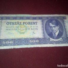 Billetes extranjeros: HUNGRIA 500 FORINT 1969. Lote 187540382