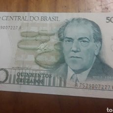 Billetes extranjeros: BILLETE DE 500 CRUZEIROS. Lote 187545020