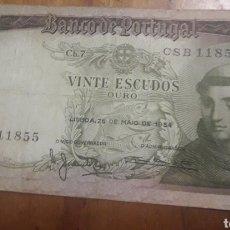 Billetes extranjeros: BILLETE DE 20 ESCUDOS PORTUGAL. Lote 187545102