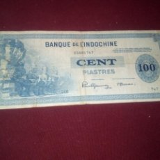 Billetes extranjeros: INDOCHINA. 100 PIASTRAS 1945. Lote 187642097