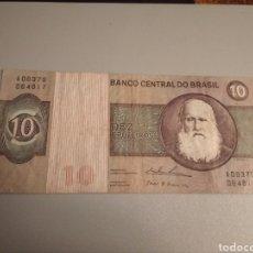 Billetes extranjeros: 10 CRUCEIROS / CRUZEIROS BRASIL. Lote 188579235