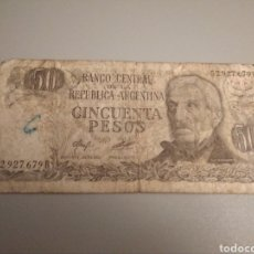 Billetes extranjeros: 50 PESOS ARGENTINA GENERAL SAN MARTÍN. Lote 188593970
