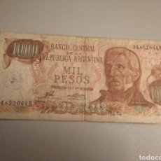 Billetes extranjeros: 1000 PESOS ARGENTINA GENERAL SAN MARTÍN. Lote 188594471