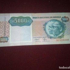 Billetes extranjeros: ANGOLA, 5000 KWANZAS, 1991 EBC-. Lote 188756401