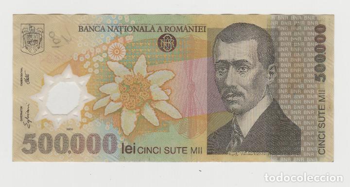 RUMANIA-500.000 LEI- AÑO 2000-PLANCHA (Numismática - Notafilia - Billetes Extranjeros)