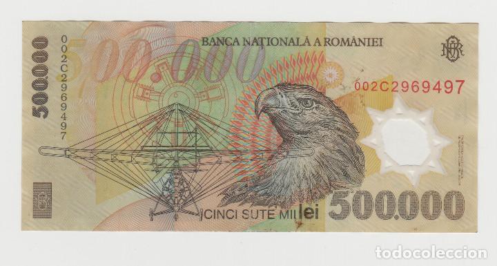 Billetes extranjeros: RUMANIA-500.000 LEI- AÑO 2000-PLANCHA - Foto 2 - 189091068