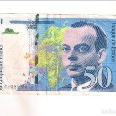 Banconote internazionali: BILLETE DE 50 FRANCOS DE FRANCIA DE 1997. MBC. WORLD PAPER MONEY-157AD (BE238). Lote 189341288