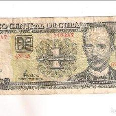 Billetes extranjeros: BILLETE DE PESO DE CUBA DE 2002. RC. WORLD PAPER MONEY-121B (BE144). Lote 189354913
