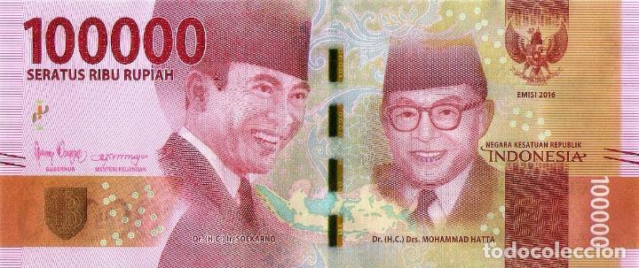 UNC New Design and Signatures 2019 INDONESIA 100000 Rupiahs P160