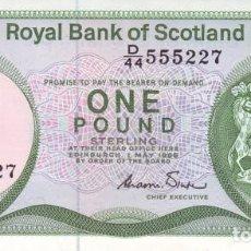 Billetes extranjeros: ESCOCIA. REINO UNIDO 1 LIBRA POUND 1986. PICK 341. SIN CIRCULAR. Lote 190065361