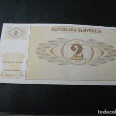 Billetes extranjeros: PRECIOSO BILLETE PLANCHA SLOVENIA 2 TOLARJEV VER TODOS MIS LOTES DE BILLETES. Lote 244582270