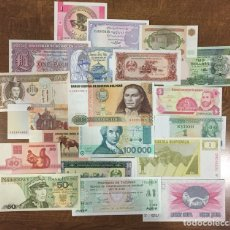 Billetes extranjeros: LOTE 20 BILLETES EXTRANJEROS - SIN CIRCULAR SC - VARIOS PAÍSES (5 CONTINENTES) COLECCION. Lote 252710940