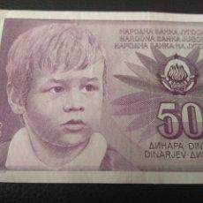 Billetes extranjeros: 50 DINARA DE LA ANTIGUA YUGOSLAVIA.. Lote 190193242