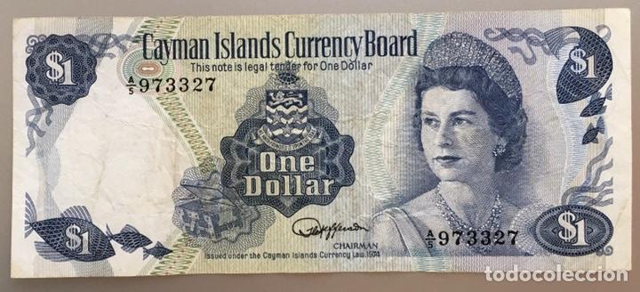 Billetes extranjeros: Islas Cayman. 1 Dolar 1974 - Foto 2 - 190385368