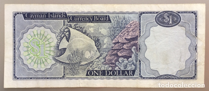 ISLAS CAYMAN. 1 DOLAR 1974 (Numismática - Notafilia - Billetes Extranjeros)