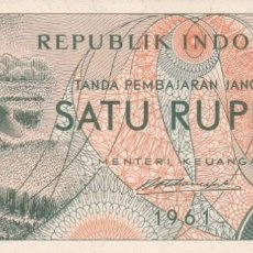 Billetes extranjeros: BILLETE INDONESIA SATU RUPIAH S/C. Lote 190451056