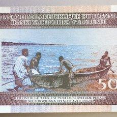 Billetes extranjeros: BURUNDI. 50 FRANCOS. Lote 190507562
