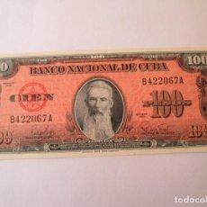 Billetes extranjeros: BILLETE * 100 PESOS 1959 CUBA * PLANCHA. Lote 190563636