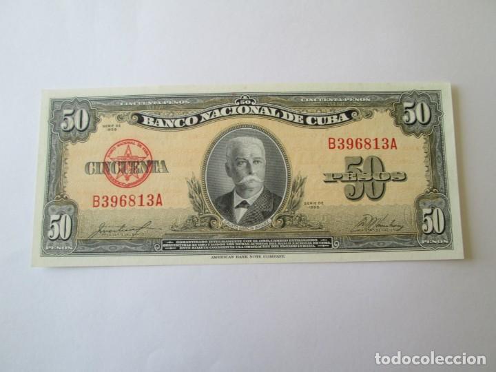 BILLETE * 50 PESOS 1958 CUBA * PLANCHA (Numismática - Notafilia - Billetes Extranjeros)